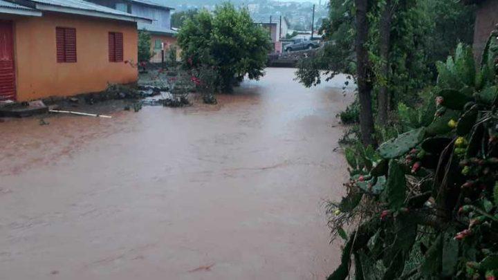 Xaxim registrou vários pontos de alagamentos devido as fortes chuvas