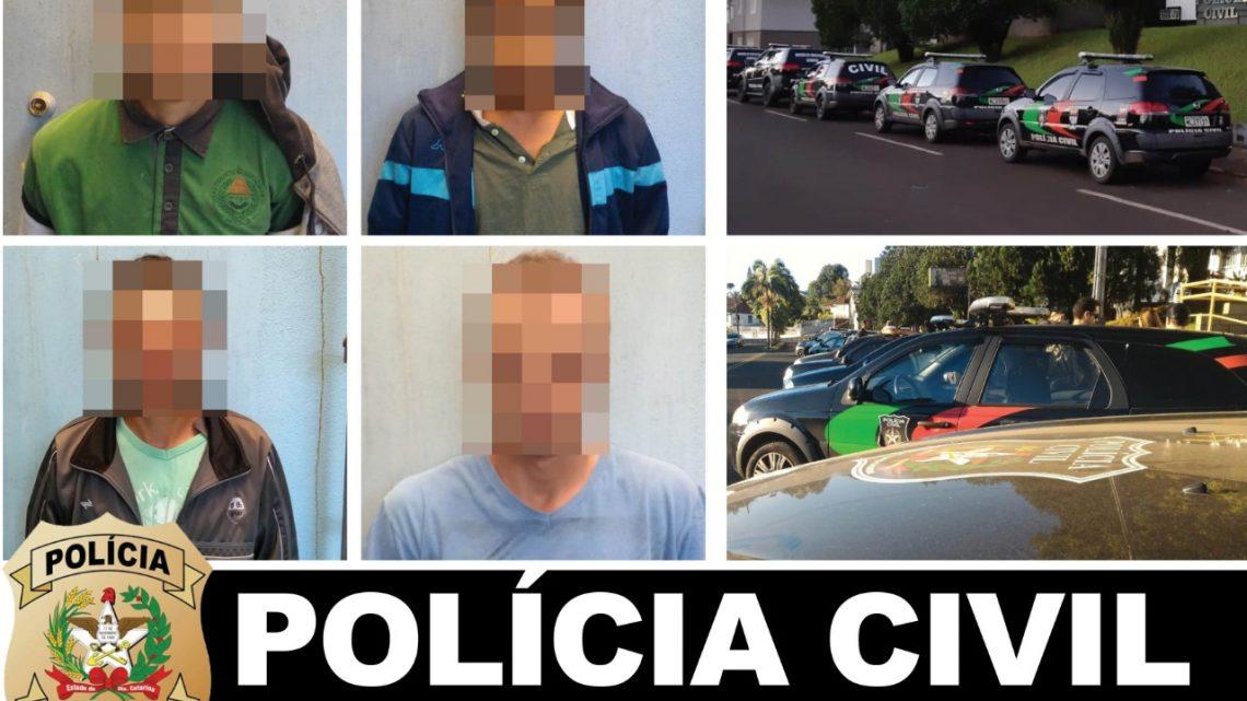 """Polícia Civil realiza """"Operação Irmãos Metralha"""" e cumpre 8 mandados judiciais levando 3 pessoas a prisão"""