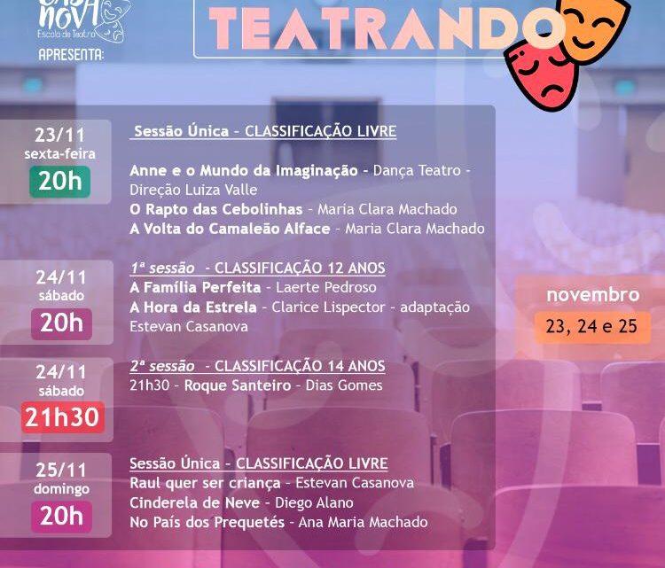 """Festival """"TEATRANDO"""" começa hoje em Chapecó"""