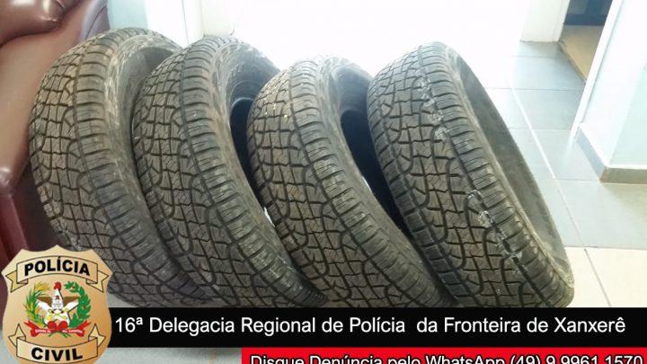 Polícia Civil de Xanxerê apreende pneus contrabandeados