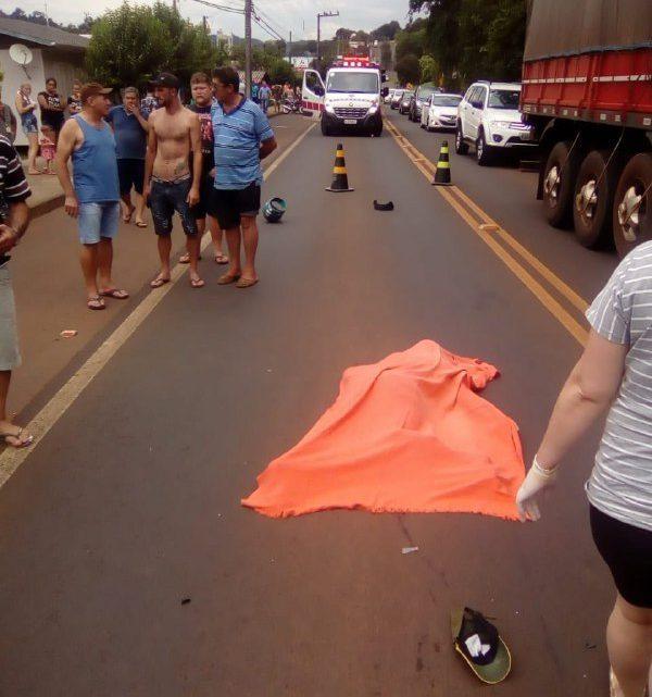 Motociclista perde a vida em acidente em Coronel Freitas