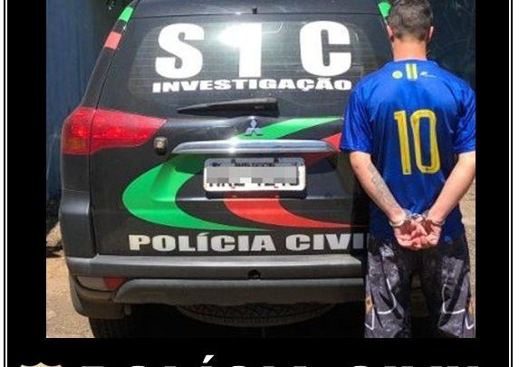 Polícia Civil prende homem com 66 ocorrências policiais