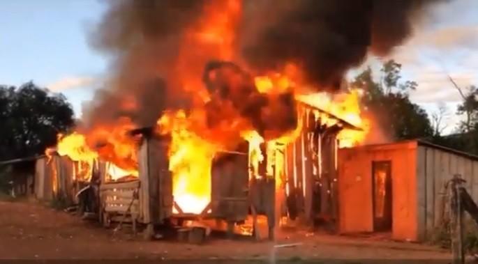 Idoso morre carbonizado em incêndio em residência em Abelardo Luz