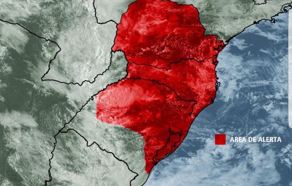 Forte chuva já avança do Rio Grande do Sul a Santa Catarina