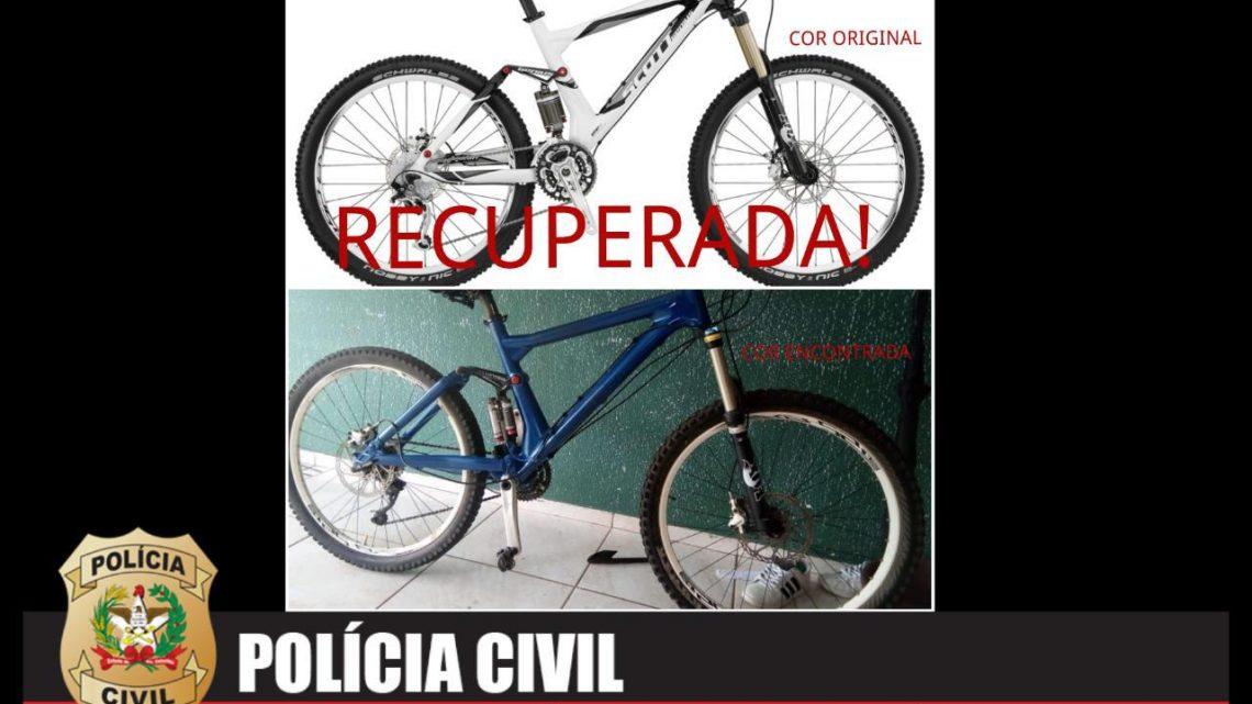 Polícia Civil recupera bicicleta furtada avaliada em R$ 12.000,00