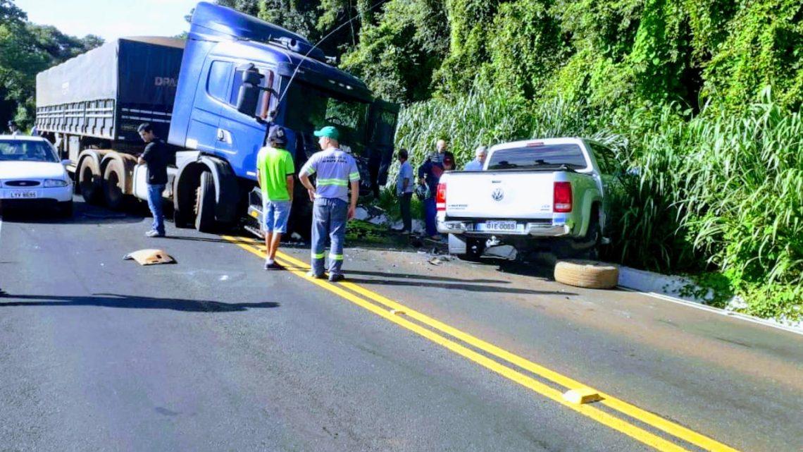 Motorista morre ao bater de frente com caminhão na SC 283 na linha Feliz