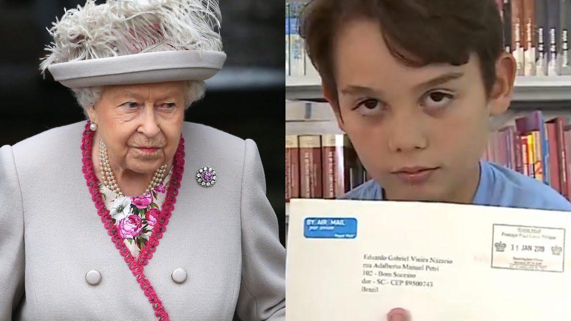 Garotinho Catarinense de 12 anos escreve carta para rainha Elizabeth II e recebe resposta