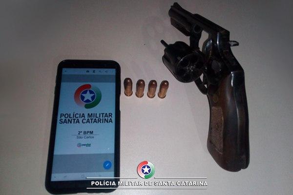 Homem é preso por porte ilegal de arma de fogo em São Carlos