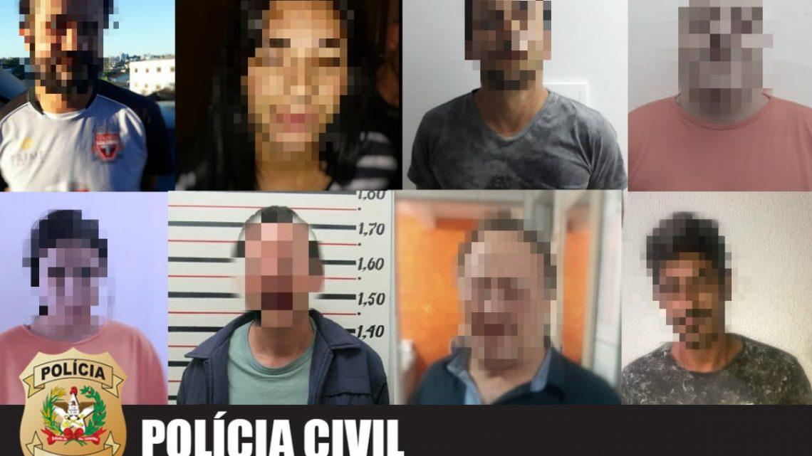 """Polícia Civil e Exército Brasileiro realizam """"Operação Ágata"""" e prendem oito pessoas em Chapecó"""