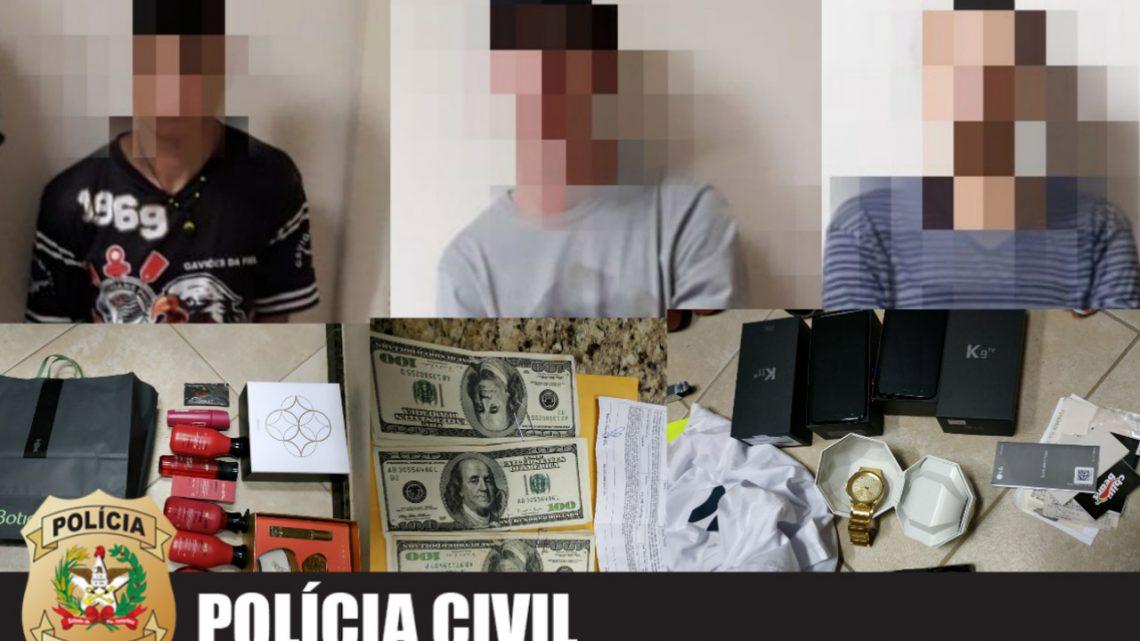Polícia Civil recupera U$ 5.500,00 durante abordagem em shopping de Chapecó
