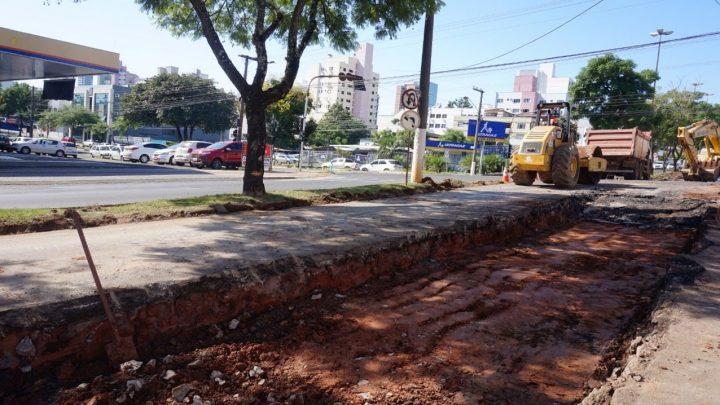 Avenida General Osório começa a ser revitalizada em Chapecó