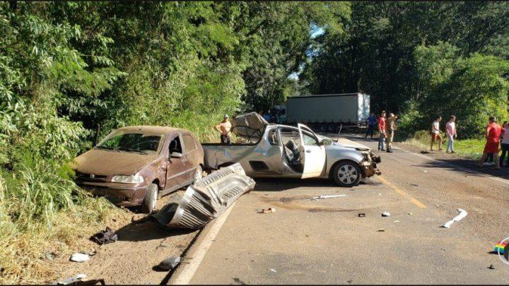 Grave acidente na SC 163 deixa uma vítima fatal e outra gravemente ferida