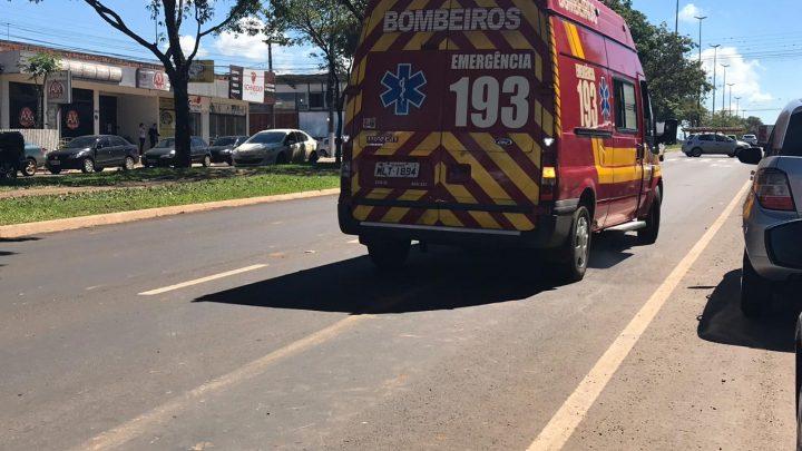 Criança de dois anos é atropelada na avenida Getúlio Vargas em Chapecó