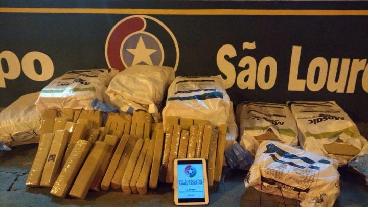 Polícia Rodoviária apreende 320kg de maconha em São Lourenço do Oeste