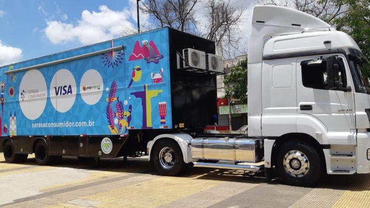 Com serviços gratuitos, caminhão da Serasa estará no Shopping Pátio Chapecó