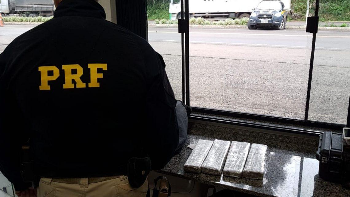 Homem é preso com maconha e dinheiro na BR 153 em Concórdia