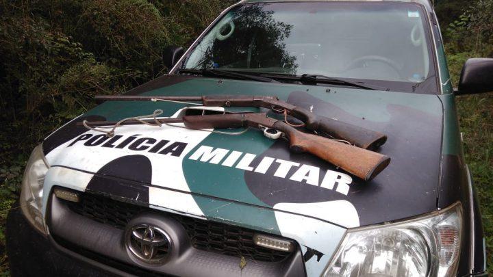Polícia Militar Ambiental apreende armas durante fiscalização de caça