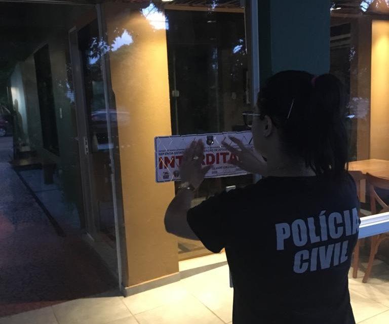 Polícia Civil interdita restaurante em Pinhalzinho