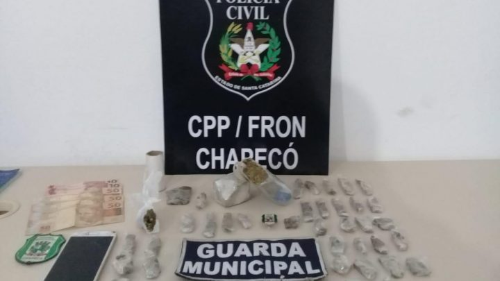 Traficante é preso na praça central de Chapecó