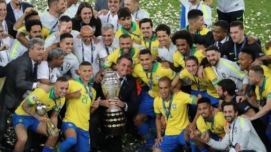 Brasil bate o Peru no Maracanã e vence a Copa América pela nona vez