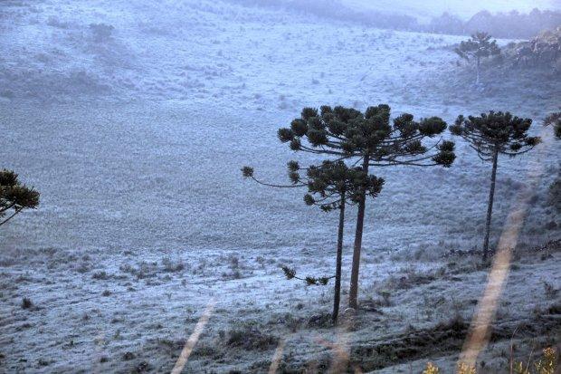 Possibilidade de neve na região Oeste nessa semana