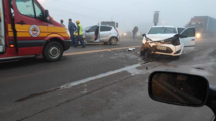 Colisão entre veículos é registrada nessa manhã em Nova Erechim