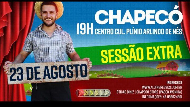 Badin o colono se apresenta em Chapecó na próxima sexta-feira