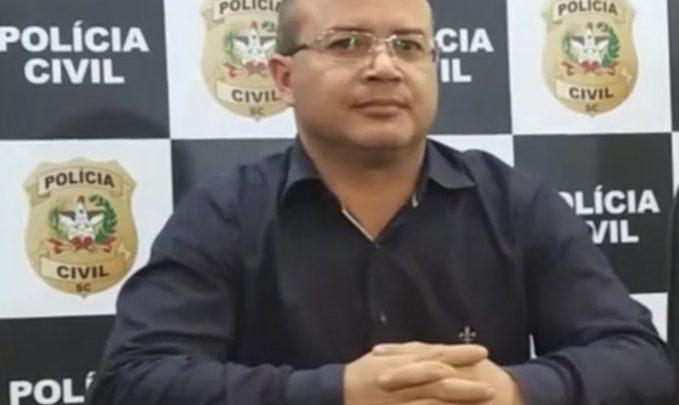 Delegado Wagner Meireles deixa a delegacia regional de Chapecó