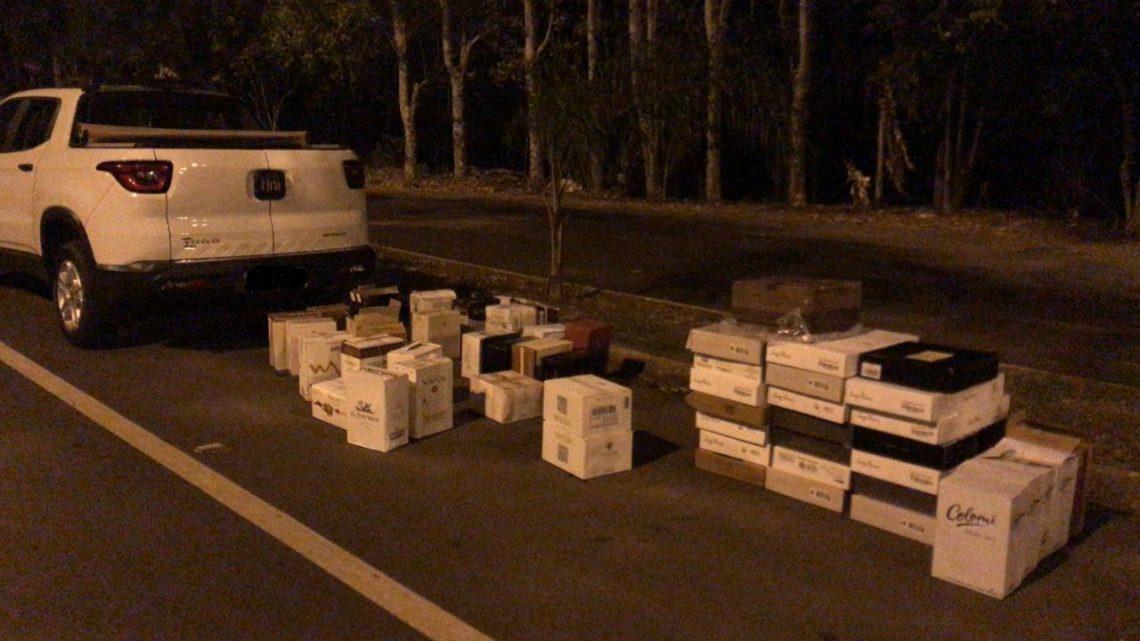 Carga de vinhos contrabandeada avaliada em 60 mil reais é apreendida em SLO