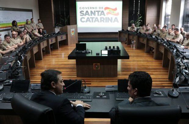 Ministro Sergio Moro conhece trabalho e estruturas da Segurança Pública em Santa Catarina