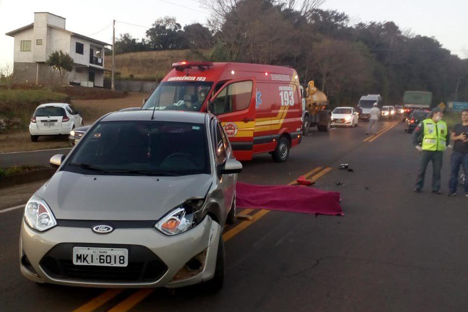 Motociclista morre após colisão com veículo na SC-283 em Seara