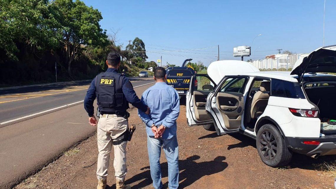 Homem é preso na BR-282 em Cordilheira Alta com SUV furtado e clonado em SP
