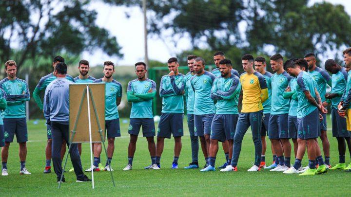 Chape encerra preparação para o embate com o Palmeiras