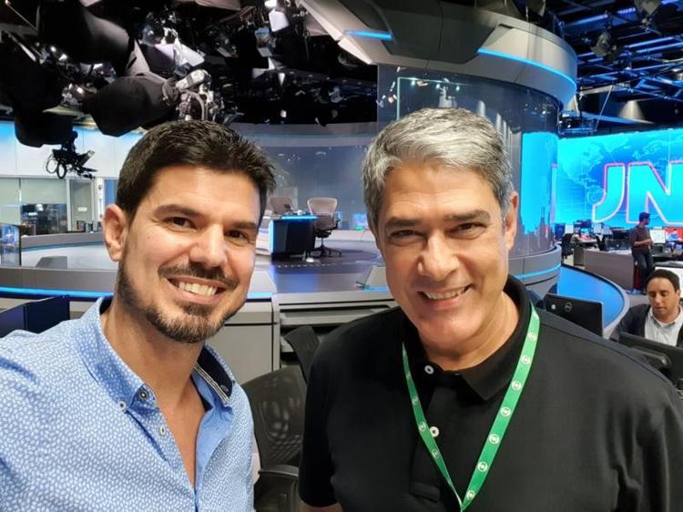 Fabian Londero representa SC na bancada do Jornal Nacional