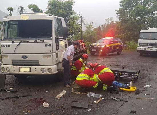Moradora de Chapecó fica gravemente ferida em acidente no RS