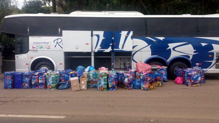 Mercadorias importadas ilegalmente são apreendidas na BR 153 em Concórdia