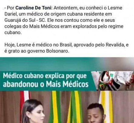 Depoimento de médico de Guarujá do Sul repercute nas redes sociais do presidente Bolsonaro
