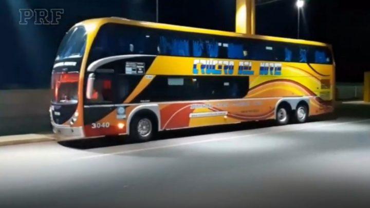 PRF retém ônibus argentino com R$ 28 mil em multas não pagas no Brasil