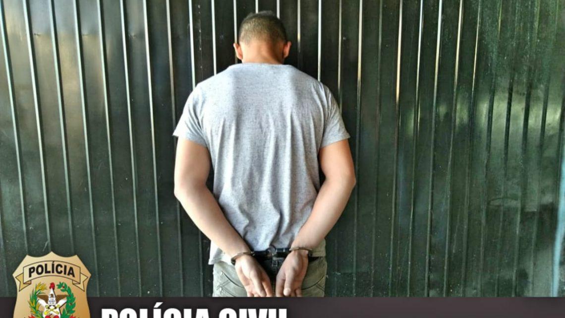 Polícia Civil efetua a prisão preventiva de investigado por violência doméstica contra a mulher em Chapecó