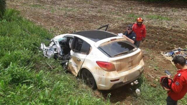 Idoso de 60 anos morre em acidente na BR-282