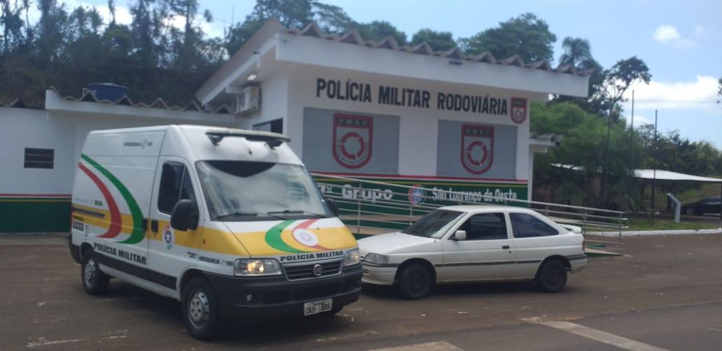PMRv recupera veículo furtado e prende homem em São Lourenço do Oeste