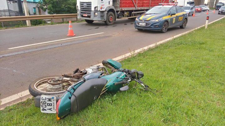 Urgente: Motociclista morre em grave acidente em Chapecó