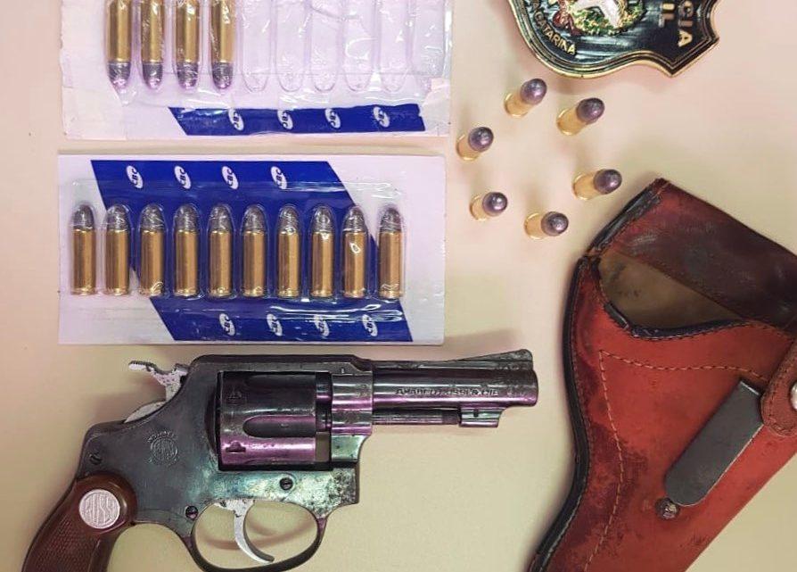 Polícia Civil cumpre mandado de busca e apreende arma de fogo e munições em SLO