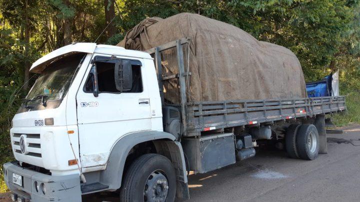 PRF apreende peças de caminhões de origem suspeita em Concórdia na BR-153