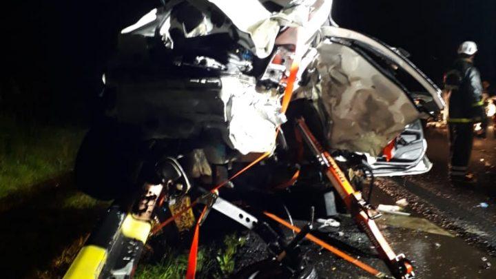 Grave acidente na BR-282 deixa três mortos