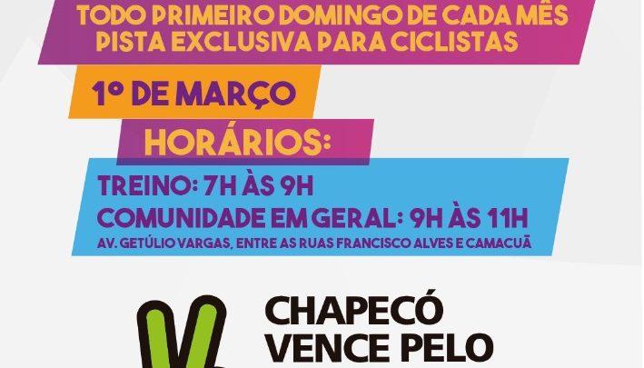 Prefeitura realiza 1ª edição do Pedala Chapecó