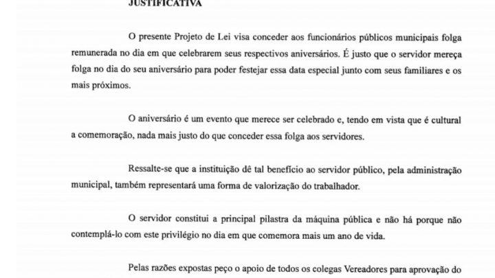Vereador de Chapecó retira projeto de Lei que dava folga no aniversário aos servidores públicos