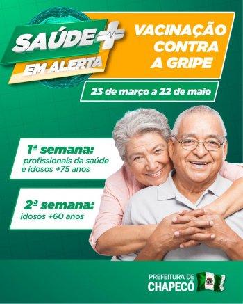 Iniciou em Chapecó a campanha nacional de vacinação contra gripe