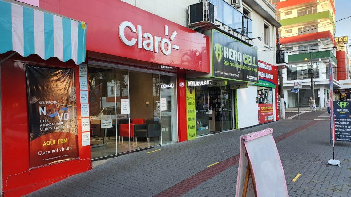 Análise do Sicom estima queda de 49% no faturamento do comércio em Chapecó
