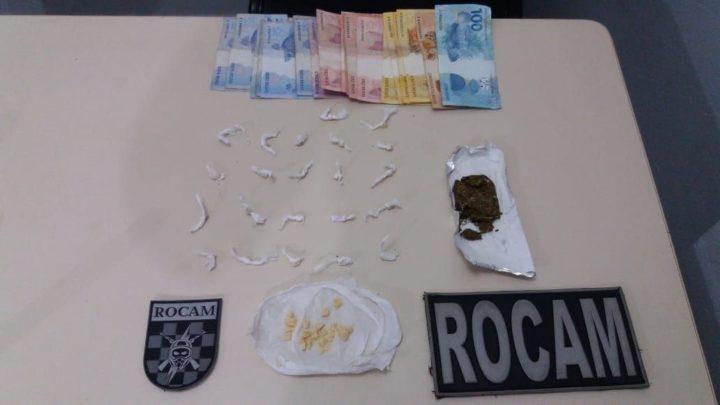 Dois adolescentes de 15 e 16 anos são apreendidos por suspeita de tráfico de drogas e por mandado em aberto no Líder